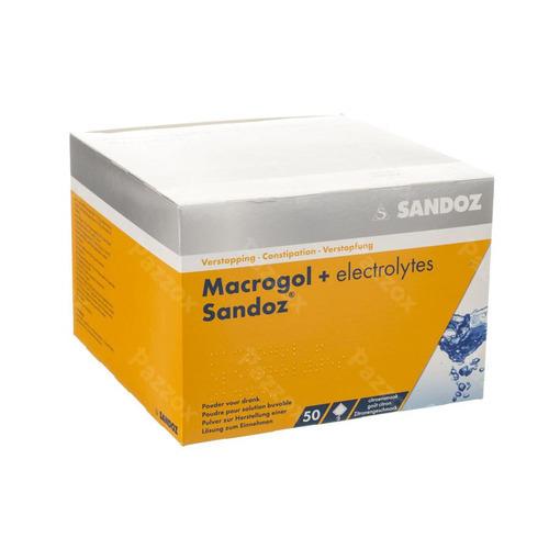 Macrogol + Electr Sandoz Pdr Ciroensmaak 50x13,7g