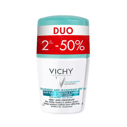 Vichy Deo A/trace Roller 48h Duo 2x50ml