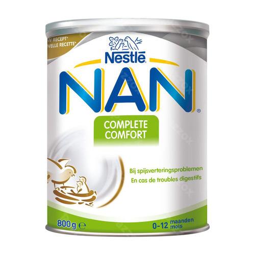 Nestlé Nan Complete Comfort Zuigelingenmelk Spijsvertering Baby 0 Tot 12 Maanden 800g