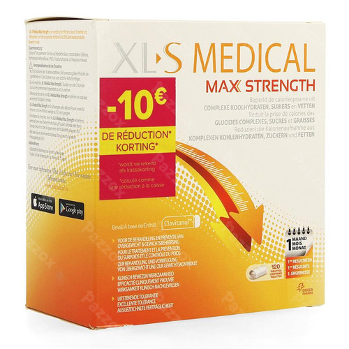 Xls Med. Max Strength Comp 120 Promo -10€