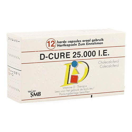 D Cure 25000ie Gelulen 12