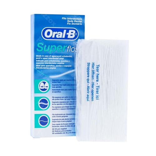 Oral B Floss Super Floss Mint Waxed 50m
