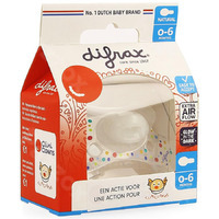 Difrax Fopspeen Natural 0- 6m Cliniclowns