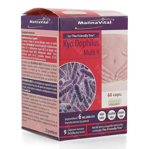 Mannavital Kyodophilus Multi 9 Caps 60
